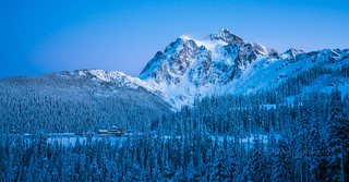 Shuksan and White Salmon Lodge after Dusk Explored Over 44k Views