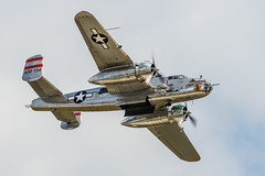 Panchito - Bomb Bay Doors Open Pass (4myrrh1) Tags: andrews afb military ww2 wwii 2017 mitchel b25 bomber aircraft airplane aviation airshow airplanes airforce md canon 7dii ef100400l
