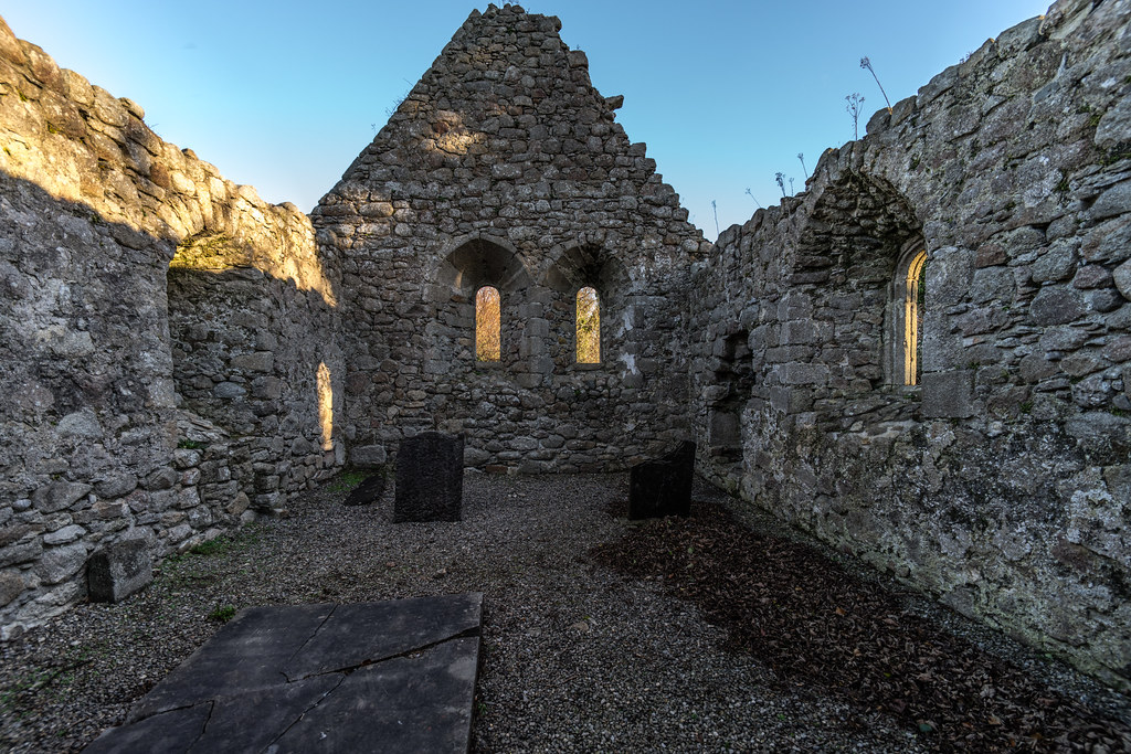 ANCIENT CHURCH AND GRAVEYARD AT TULLY [LAUGHANSTOWN LANE NEAR THE LUAS TRAM STOP]-134559