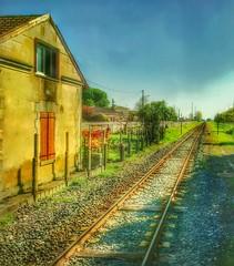 What lies ahead? (Sherrianne100) Tags: 2018 newyear tracks railroadtracks libourne france