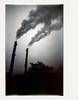 Smoking at dawn (Italian Film Photography) Tags: brescia istantanea instax chimneys smoke morning dawn ciminiere fumo wide alba