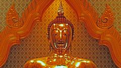 'It is better to conquer yourself than to win a thousand battles…. (Jinky Dabon) Tags: fujifilmfinepixhs35exr buddhism goldenbuddha bangkok wattraimitr thailand 18karatgold religion buddhist buddha