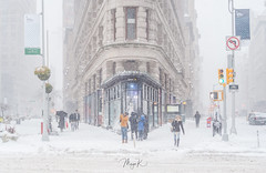 First snow storm of 2018 (Maya K. Photography) Tags: snow snowyday snowpicture snowstorm blizzard bombcyclone bombcyclone2018 newyorkstreetphotography newyork newyorkers people winter winterday wind nyc ny manhattan usa us unitedstatesofamerica america photography photo photooftheday flatiron 5thavenue ave broadway streetsofmanhattan streetphoto street streetphotonewyork streetphotography building architecture outdoor flatironbuilding mayak mayakphotography majkakmecova nikon sigma
