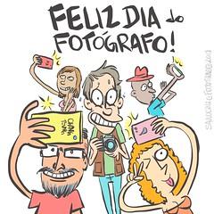 dia do fotógrafo 2018 (Saulo Cruz) Tags: diadofotógrafo 2018 felizdiadofotógrafo photographer selfie desenho cartoon draw fototiras
