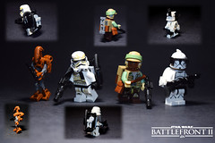 Lego SW:BFII- Custom Heavy Figures (RagingPhotography) Tags: lego star wars battlefront ii two 2 custom figures minifigures figs customization painted paint heavy class heavies ea electronic arts clonetrooper clone trooper rebel soldier stormtrooper storm droid separatists separatist imperial galactic empire rebellion alliance endor outfit sandy sand dirt plastic backpacks back packs pack weapons blasters tatooine desert ragingphotography