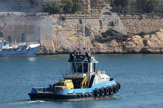 #AL #MERGHEB leaving #Valletta, #Malta with #Dutch #Ambulance during the #LibyanUprising - 18.06.2011 - www.maltashhipphotos.com