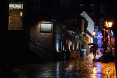 historic center (Charles-Fernand) Tags: rain pluie couleurs colors road rue figure night light nuit lumière reflets silhouette