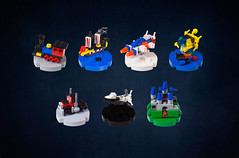 Iconic LEGO Set Christmas Ornaments (roΙΙi) Tags: baubles christmas ornaments lego afol micro microscale nano sets iceplanet aquazone aquasharks blackseasbarracuda modelteam spaceshuttle castle