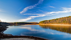 Reservoir View (mattb105) Tags: landscape reservoir lake maryland sky water bridge dam clouds reflection