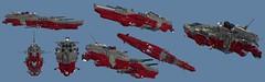 IUN Asagiri (Cagerrin) Tags: lego system technic space spaceship starship battlecruiser ldd legodigitaldesigner 3d