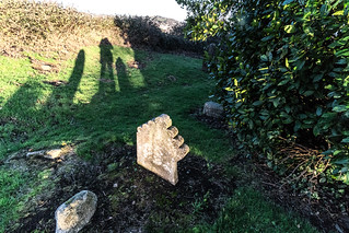 ANCIENT CHURCH AND GRAVEYARD AT TULLY [LAUGHANSTOWN LANE NEAR THE LUAS TRAM STOP]-134587