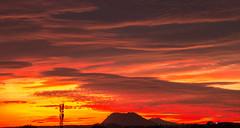 Nubes rojas (mandoft) Tags: montaña atardecer cielo landscape antena rojo nube elcampello comunidadvalenciana españa es