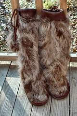 Handmade mukluks (carlakelly1) Tags: mukluks raccoon elk boot indian footwear handmade