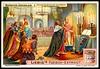 Liebig Tradecard S997 - Crusaders in the Holy Sepulchre Church (cigcardpix) Tags: tradecards advertising ephemera vintage liebig chromo