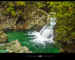 Twin Fall in North Vancouver's Lynn Canyon Park, BC, Canada (Ann Badjura Photography) Tags: lynncanyon twinfalls lynnvalley vancouver northshore watefalls northvancouver bc britishcolumbia canada beautifulbc river creek miss604 604now ctvphotos colourfulvancouver vancitybuzz 24hrvancouver georgiastraight westcoast photonewsgallery insidevancouver pnw pacificnorthwest trees