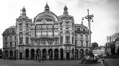 Central Station Anvers (BE) (YᗩSᗰIᘉᗴ HᗴᘉS +13 000 000 thx) Tags: antwerpen anvers centralstation station gare bw bn nb blackandwhite flandres belgium belgique bel be architecture monochrome hensyasmine yasminehens