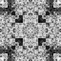 1208415157 (michaelpeditto) Tags: art symmetry carpet tile design geometry computer generated black white pattern