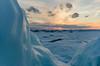 Cold Shoulder (Aaron Springer) Tags: michigan northernmichigan lakemichigan thegreatlakes lakeshore shoreline winter snow ice shelfice sunset clouds outdoor nature landscape