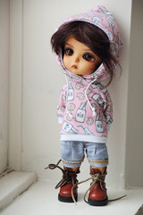 Milk & Cookie... (L♥valizious) Tags: milkandcookie bjd clothes clothing kawaii pink miniature doll casual realistic cute sewing latidoll lati yellow pirate
