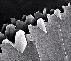 Formation (Bob R.L. Evans) Tags: ipadphotography black white blackandwhite graytones lightandshadow lowkey composition defamiliarization unusual cardboard
