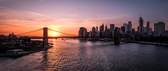Brooklyn bridge and Manhattan at sunset - New York - Cityscape photography (Giuseppe Milo (www.pixael.com)) Tags: photo newyork landscape manhattan buildings cityscape panorama clouds brooklyn sun urban travel photography view sky seascape sunset bridge sea city onsale portfolio