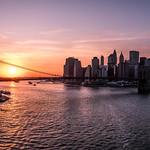 Brooklyn bridge and Manhattan at sunset - New York - Cityscape photography thumbnail