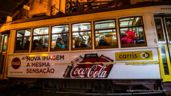 night passengers - take 1 (ignacy50.pl) Tags: people travel transportation tram colorful tourists lisbon alfama portugal streetphotography street citylife cityview nightlights nightlife reportage urban
