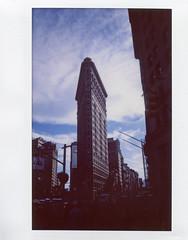 Flatiron Building - Instax Version; New York, New York (hogophotoNY) Tags: hogophoto skyscraper manhattan us usa fuji instantfilm analog instax 210 fujiinstax210 bigapple thebigapple landmark newyorklandmark
