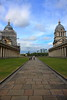 To the Water (innpictime ζ♠♠ρﭐḉ†ﭐᶬ₹ Ȝ͏۞°ʖ) Tags: sky lawn clock architecture buildings paving colonnade london clouds canarywharf greenwich walkers se10 christopherwren oldroyalnavalcollege grass domes 514824950004867 scaffolding weathervanes