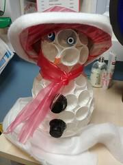 Snowman, made by Nursing Staff working on Christmas Day (f1jherbert) Tags: lgelectronicslgh870 lgg6 lg g6 electronics lgh870 christmasday nhs nurses nursing snowman snow man
