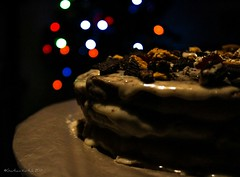 Belated Merry Christmas... And Advanced Happy new year everyone!! (Gautham Karthik) Tags: christmas cake food foodie homemade chocolate oreo icingsugar sweet bokeh manualfocus