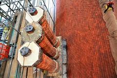 Roof restoration - The Vyne (stavioni) Tags: the vyne national trust house property roof chimney tiles tile slate wood beams restoration