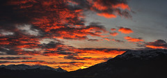 (patrickgkelly) Tags: sunset evening mountains sky clouds grandecache alberta canada panorama