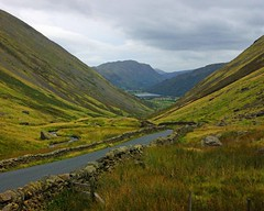 Portrait of the lakes (WISEBUYS21) Tags: kirkstone pass lake district cumbria cumberland mountain mountains lakes road roadway hills grass green art painting travel traveller sheep lane drover drovers high wisebuys21 faves best favourite top wainright alfred
