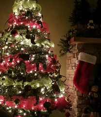stockings were hung by the chimney with care .. (~ Cindy~) Tags: tree lights decor stockings mantle
