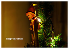 Yellow Pixie circa 1965 (Moorebig50) Tags: ilobsterit christmas christmasdecoration pixie