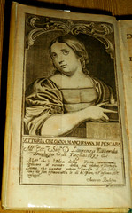 """Book: """"Rime"""" by the poetess Vittoria Colonna with her portrait - Naples, Antonio Bulifon, 1692 -  Exhibition """"Book industry and culture at Spanish Naples (1503-1526)"""" up to January 20, 2018 at National Library of Naples (Carlo Raso) Tags: book vittoriacolonna literature letteratura poetry poesia nationallibrary naples portrait etching"""
