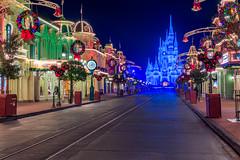Very Merry Christmas! (MarcStampfli) Tags: cinderellacastle disney florida magickingdom mainstreetusa night nikond3200 themeparks vacationkingdom wdw waltdisneyworld mickeysverymerrychristmasparty christmas mvmcp