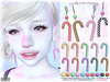 [ bubble ] Candy Cane Earrings (::: insanya ::: & [ bubble ]) Tags: secondlife bubble originalmesh accessories earrings candy candycane mesh hud discounted under100l thechapterfour exclusive