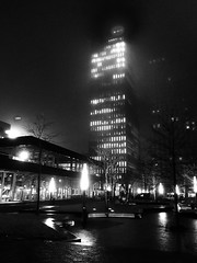 Amsterdam Zuid-As. Symphony Towers in the fog before sunrise. (ome.henk) Tags: symphony amsterdam zuidas fog tower apg