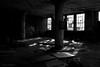 Panes (gregador) Tags: cleveland ohio decayed abandoned industry urbex urbanexploration urbanexploring blackandwhite monochrome windows shadows light