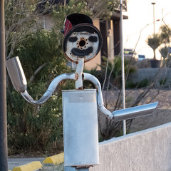 muffler man (what's_the_frequency) Tags: 365 365pic project365 canon sx50hs december 95 us95 route95 winter bullheadcity arizona calnevari muffler mufflerman metal welded statue