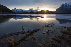 Morning has broke (Robert R Grove 2) Tags: sunrise dawn banff rundle mountains alberta canada landscape lake water robertrgrove