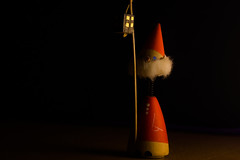 Lamplighter : 54th Christmas. (mak_9000) Tags: lamplighter fatherchristmas christmas decoration decorations light candle candlelight chiroscuro lightandshadow figure macro nostalgia macromondays litbycandlelight