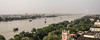 Pont d'Howrah et rivière Hooghli, Calcutta, Bengale occidental, Inde (Pascale Jaquet & Olivier Noaillon) Tags: bateaux panorama vuegénérale rivière pontdhowrah calcutta bengaleoccidental inde ind