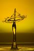Golden Umbrella (jodalton77) Tags: water drops splash art sculpture liquid fluid dynamics macro high speed photography droplets surreal light wasser highspeed