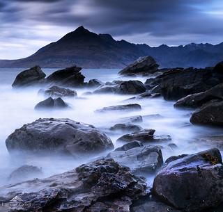 Swirling waters.