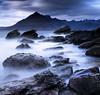 Swirling waters. (lawrencecornell25) Tags: landscape waterscape scenery scotland skye isleofskye elgol lochscavaig cuillins mountains longexposure coast outdoors nature nikond5 rocks