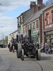 Steam on the Street (Terry Pinnegar Photography) Tags: beamish museum countydurham steam vintage traction engine robey wally 29333 ad9899 fowler dreadnought 11491 ah6486 cobbles