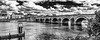 Maastricht bridge (MAICN) Tags: architektur maastricht brücke himmel mono cityscape sw clouds wasser water bw 2017 blackwhite monochrome river maas schwarzweis bridge sky fluss einfarbig vhs wolken fotoclub